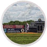 Rickwood Classic Baseball - Birmingham Alabama Round Beach Towel