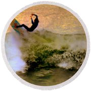 Riding High Round Beach Towel by Karen Wiles