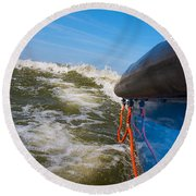 Riding The Storm. Round Beach Towel