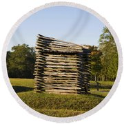 Rifle Tower Ninety Six National Historic Site Round Beach Towel