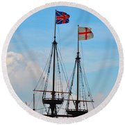 Rigging And Flags Round Beach Towel