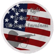 Right To Bear Arms Round Beach Towel