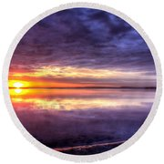Rim Of Fire  Round Beach Towel