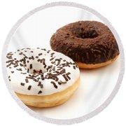Ring Doughnuts Round Beach Towel
