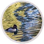 Ring-neck Reflections Round Beach Towel