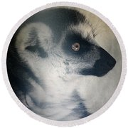 Ring Tailed Lemur Round Beach Towel