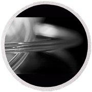 Rings Of Saturn Round Beach Towel