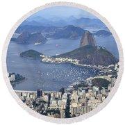 Rio De Janeiro 1 Round Beach Towel