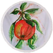 Ripe And Ready Round Beach Towel