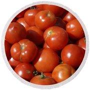 Ripe Tomatoes Round Beach Towel