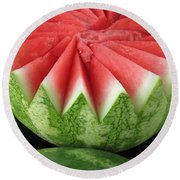 Ripe Watermelon Round Beach Towel