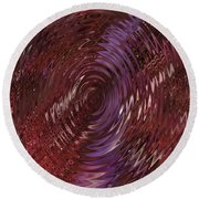 Ripple Ruby Round Beach Towel