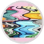 Rippled Round Beach Towel