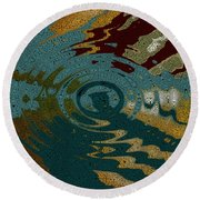 Rippled Time Round Beach Towel