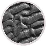 Ripples Disrupted Round Beach Towel