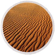Ripple Patterns In The Sand 1 Round Beach Towel
