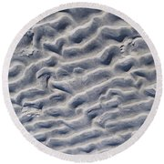 Ripples In The Sand And Surf Round Beach Towel
