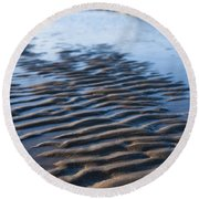 Ripples In The Sand Round Beach Towel