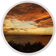 Ripples In The Sky Round Beach Towel
