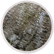 Ripples In The Swamp Round Beach Towel