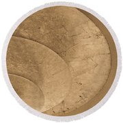 Ripples Of The Ceiling Round Beach Towel