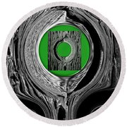 Ripples Of The Green Round Beach Towel