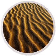 Ripples Oregon Dunes National Recreation Area Round Beach Towel