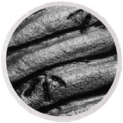 Ripples With Footprints Round Beach Towel