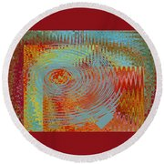 Rippling Colors No 1 Round Beach Towel