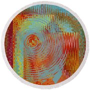 Rippling Colors No 2 Round Beach Towel