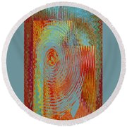 Rippling Colors No 3 Round Beach Towel