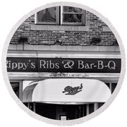 Rippy's Ribs And Bar Bq Round Beach Towel by Dan Sproul
