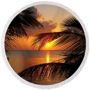 Rise And Behold Round Beach Towel
