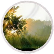 Rise And Shine Round Beach Towel by Sue Stefanowicz