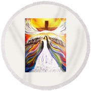 Rise Up With Wings As Eagles Round Beach Towel