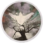 Rising From The Ash Round Beach Towel