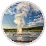 Rising Steam Round Beach Towel