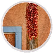 Ristra And Door Round Beach Towel