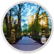 Rittenhouse Square Park Round Beach Towel
