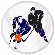 Rivalries Oilers And Kings Round Beach Towel