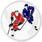 Rivalries Senators And Maple Leafs Round Beach Towel