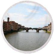 River Arno Round Beach Towel