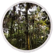 River Bend Park 2 Round Beach Towel