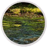 River Colors Round Beach Towel