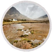 River Coupall In Glen Coe Round Beach Towel