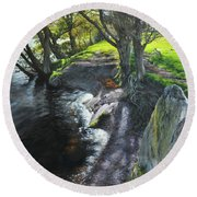 River Dee At Rhug Round Beach Towel