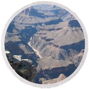 River Deep - Mountain High - Grand Canyon And Colorado River Round Beach Towel