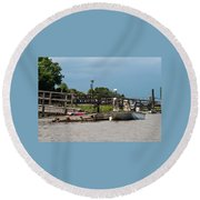 River Dogs Round Beach Towel
