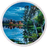 River Hdr Round Beach Towel