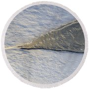River Ice Star Round Beach Towel